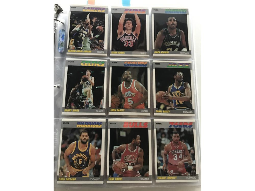 1987 Fleer Basketball Complete Set W/ Stickers Set