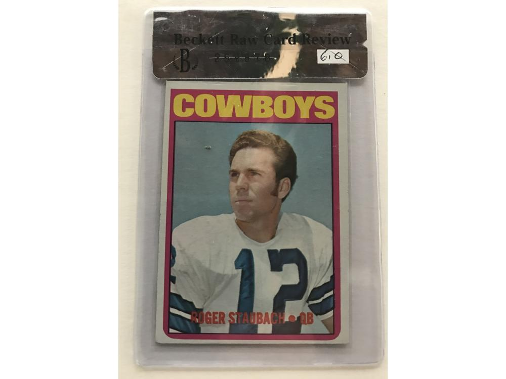 1972 Topps Football Low # Set W/ Graded Staubach