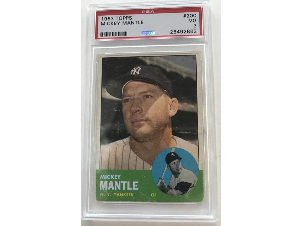 Psa 3-1963 Topps Mickey Mantle #200