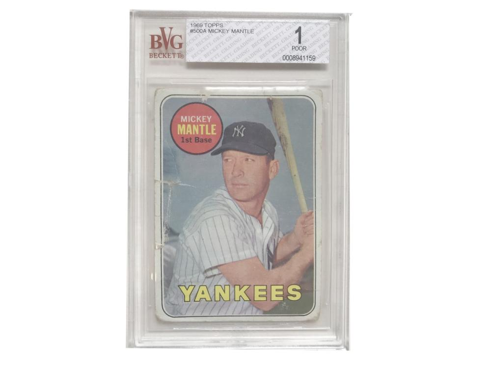 Pair Of Beckett Graded Mickey Mantle-1966 & 69