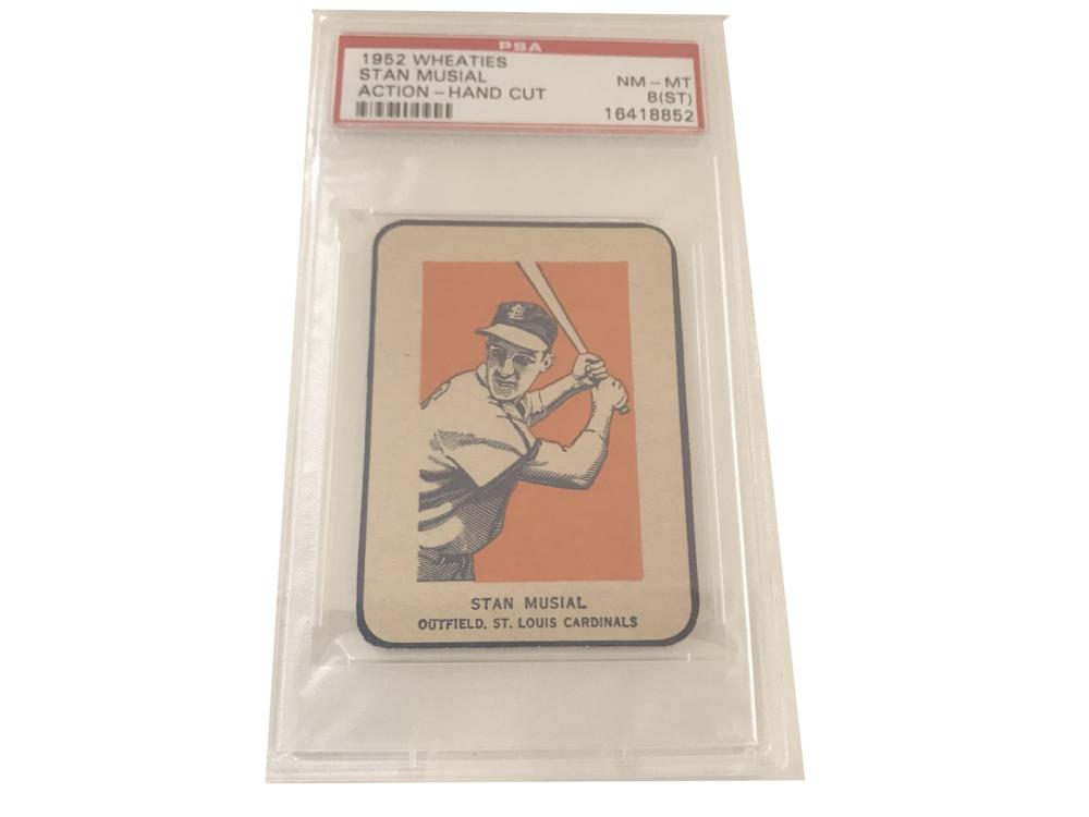 Psa 8 (st) 1952 Wheaties Stan Musial (action)