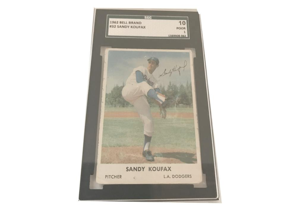 Pair Of Sandy Koufax Graded Cards(1960&62)