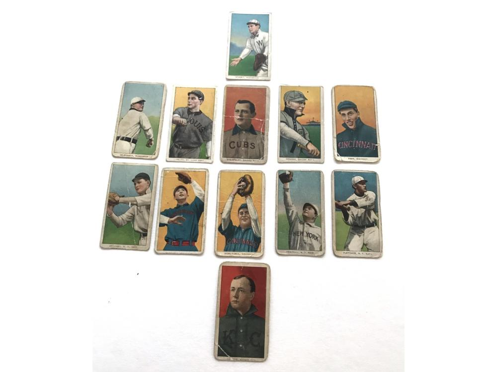 (12) Collection Of 1909-11 T206 Tobacco Cards