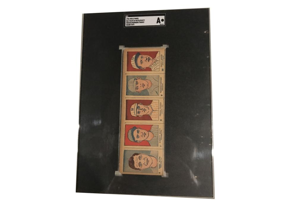 Sgc 1926 W512 Uncut Panel Of 5 With Babe Ruth