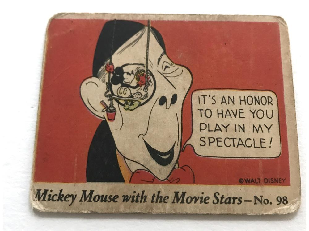 1935 Gum Inc. R90 Mickey Mouse W/ Movie Stars #98