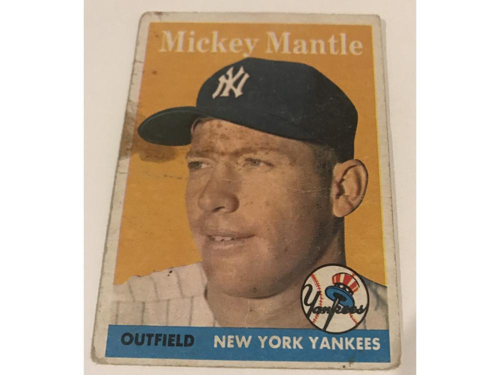 Pair Of 1958 Topps Mickey Mantle Cards #150/487