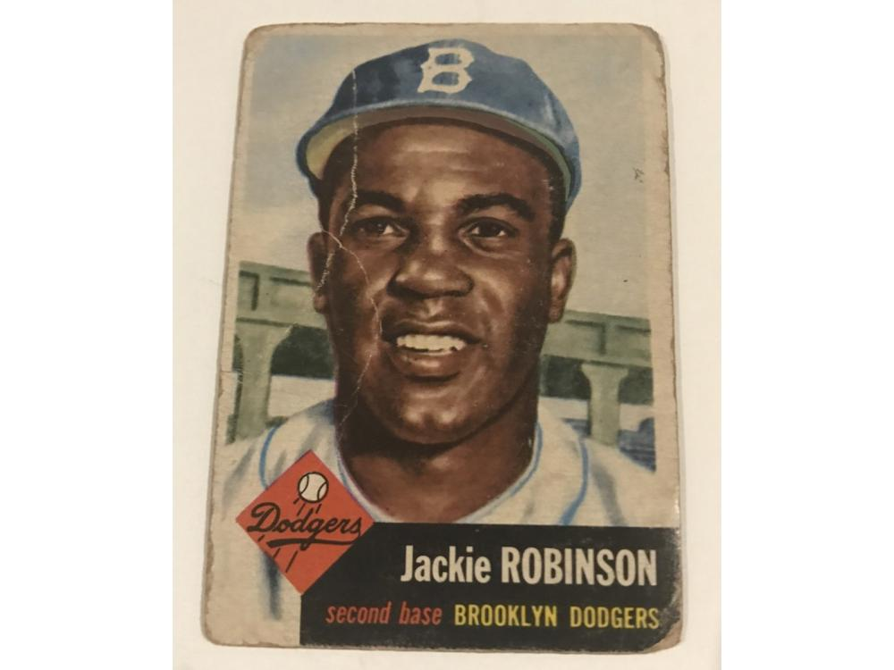 Pair Of Jackie Robinson Cards: 1953 & 1954 Topps