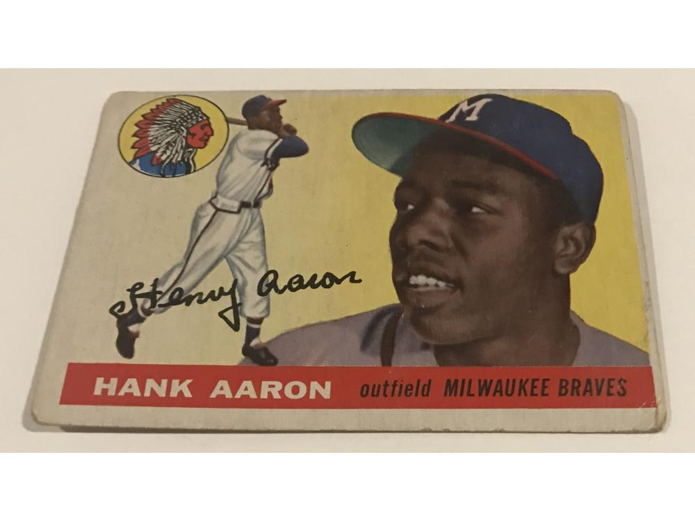 Pair Of 1955 Hank Aaron Cards-topps/bowman