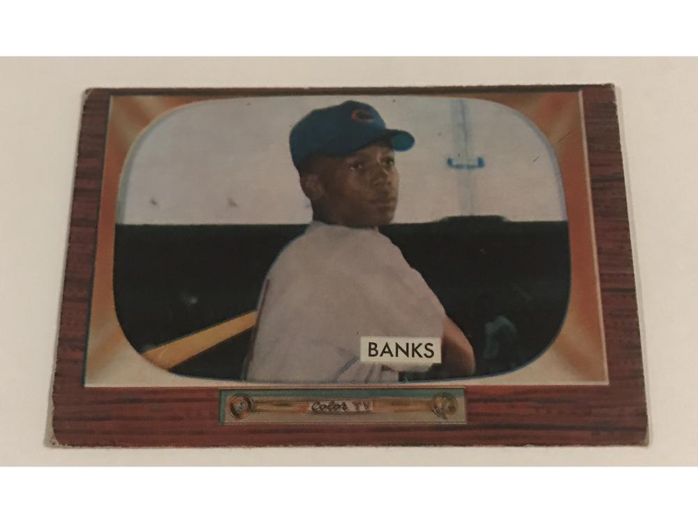50's Group Of Ernie Banks Cards-55-58