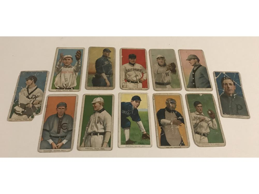 (12 Collection Of 1909-11 T206 Tobacco Cards