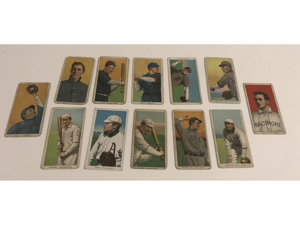 (12)collection Of 1909-11 T206 Tobacco Cards