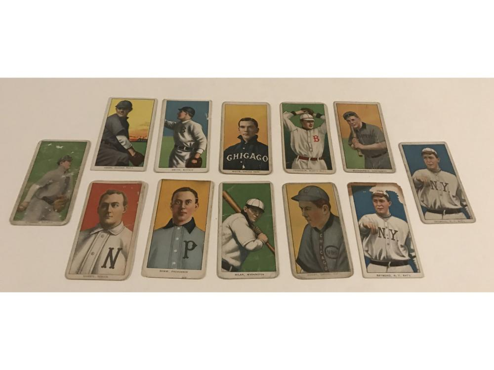 (12)1909 T206 Tobacco Cards