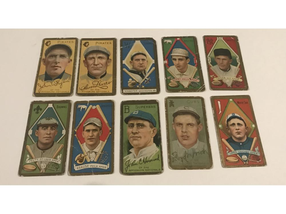 (10)1911 T205 Gold Border Estate Collection