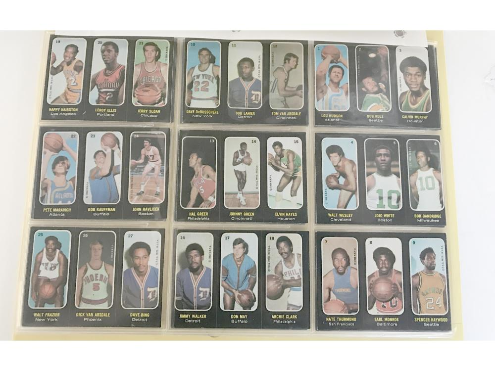 "1971-72 Topps Basketball ""trios"" Sticker Complete"