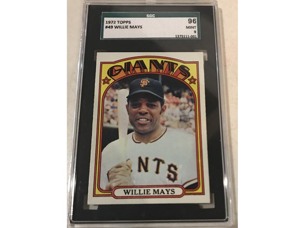 1972 Topps Willie Mays Sgc Mint 9