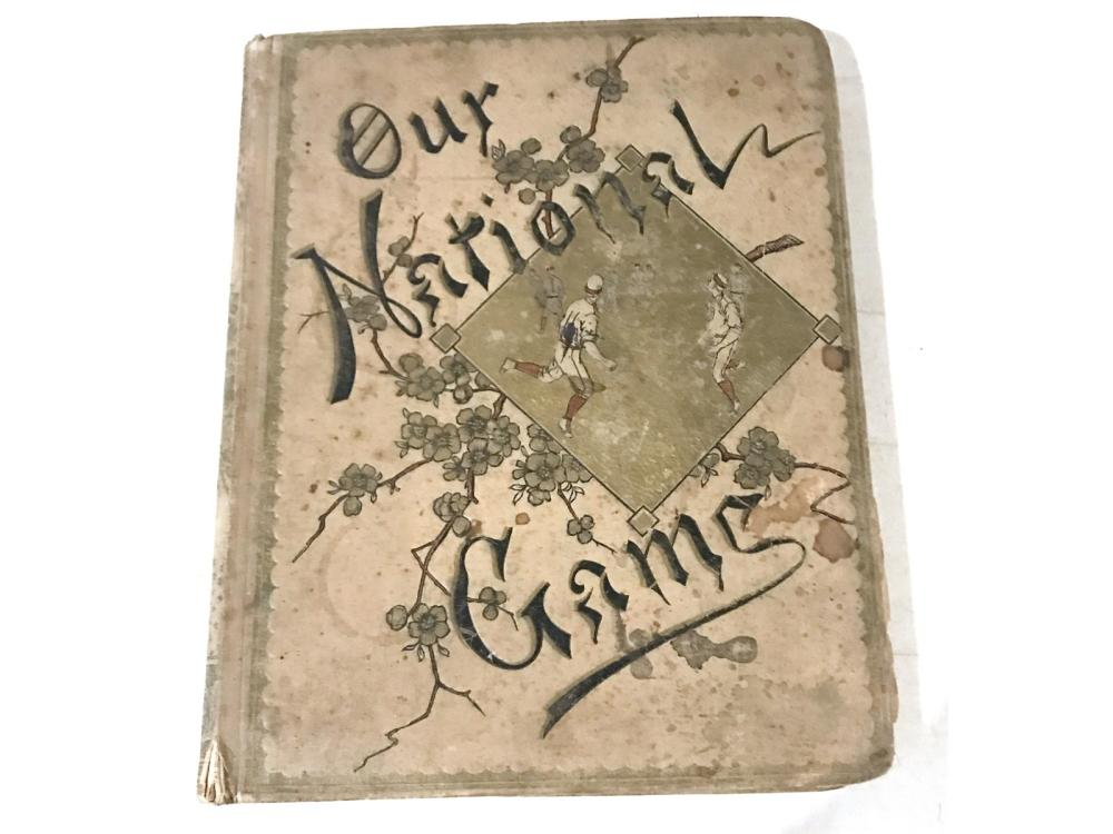 1887 Our National Game Scrapbook Loaded With Cards