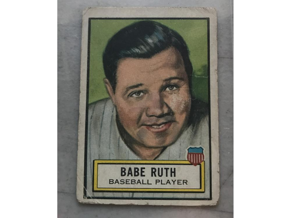 60 1952 Topps Look And See Cards Babe Ruth