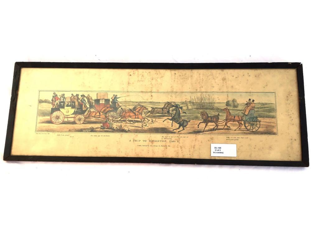 Three Antique Eqestrian Prints