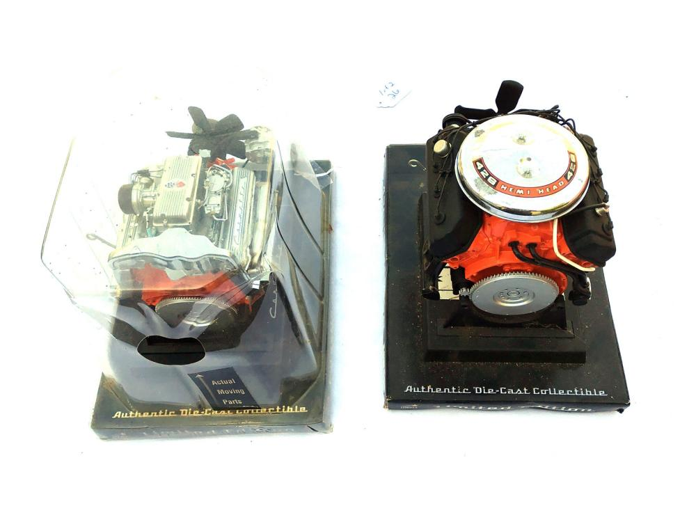 Pair Of Classic Car Engines Die Cast Limited Ed