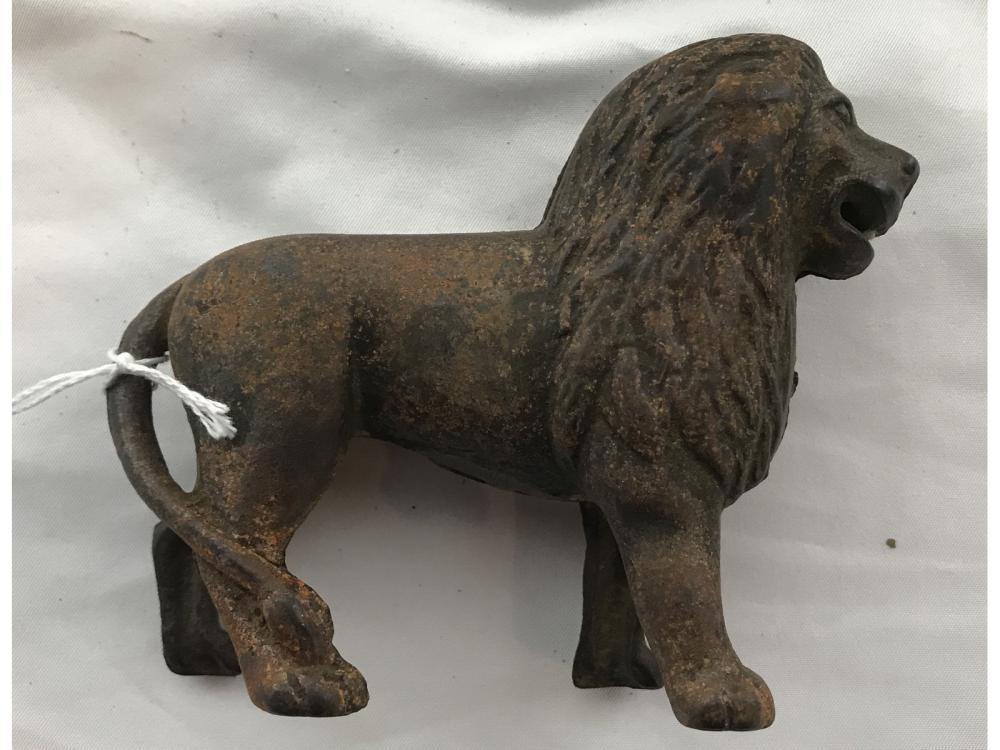 Antique Lion Penny Bank