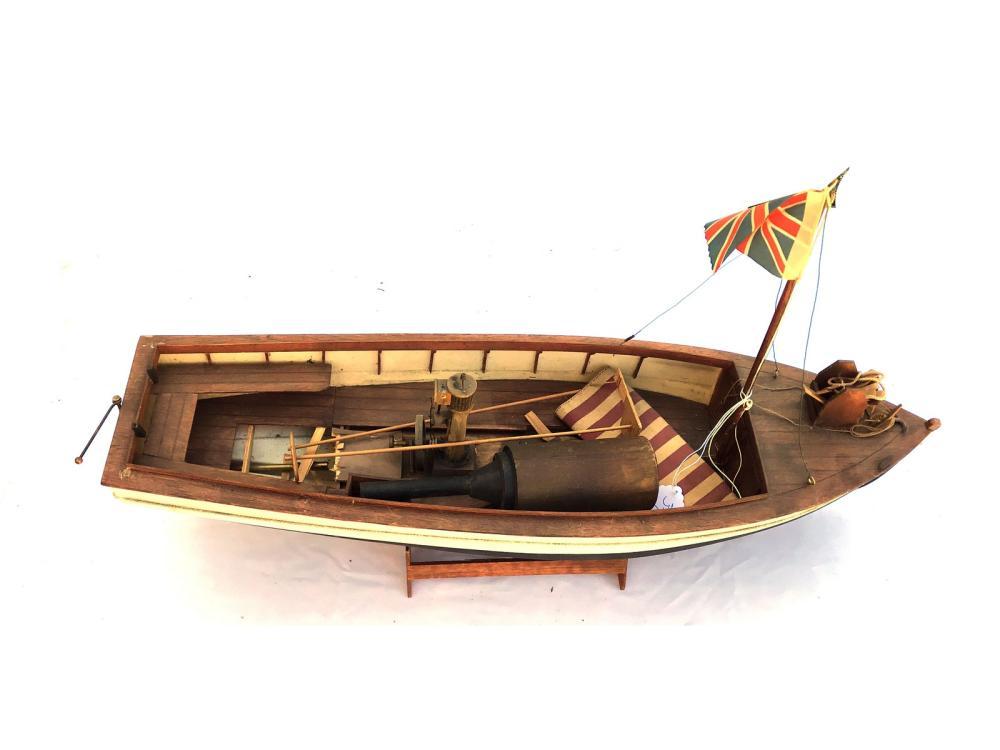 Vintage Boat Model Fully Assembled