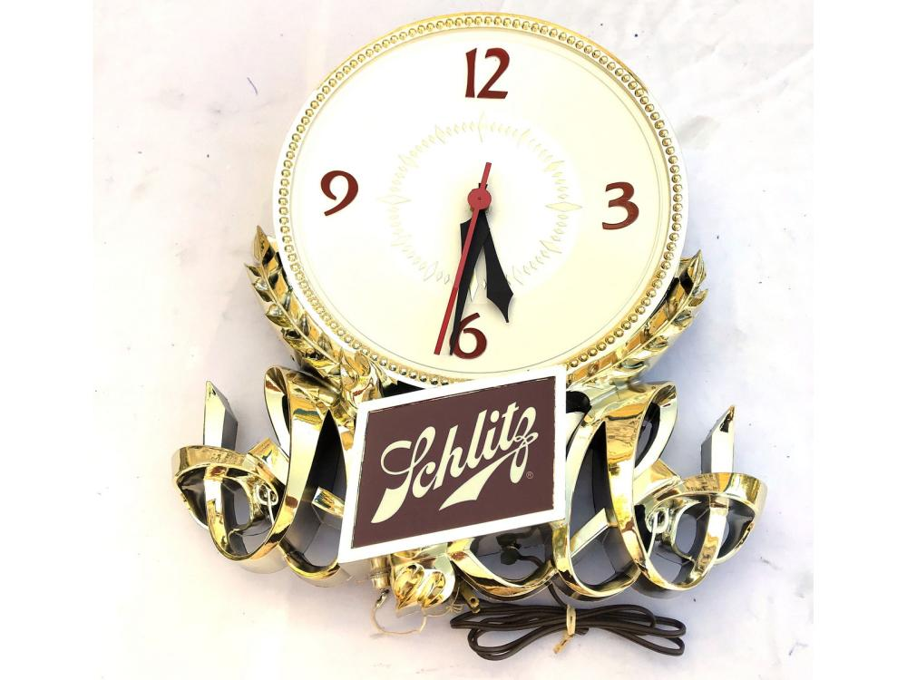 Two Schlitz Baroque Wall Clocks New Old Stock