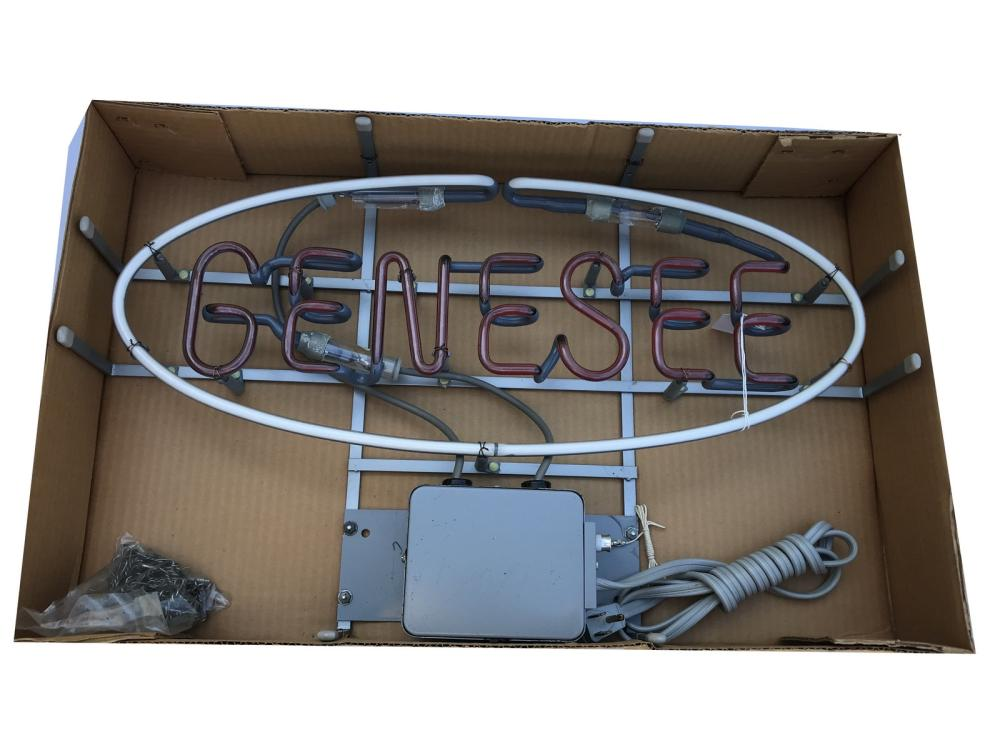 Genesee Neon Sign In Original Box New Old Stock