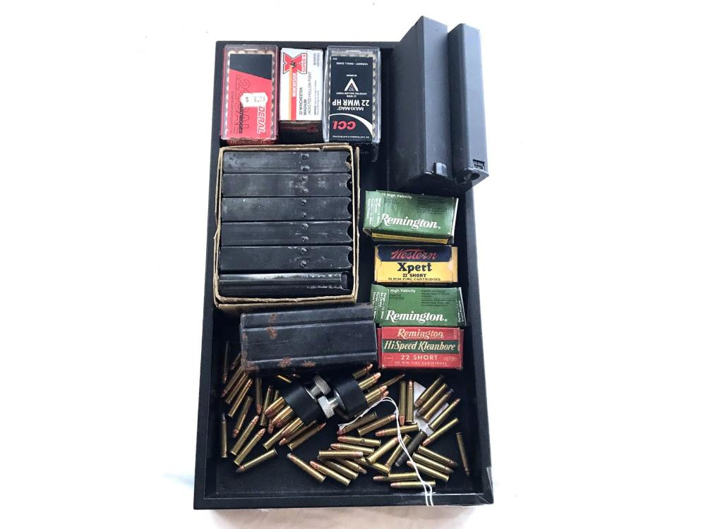 Collection Of 22 Ammo And Speed Loaders