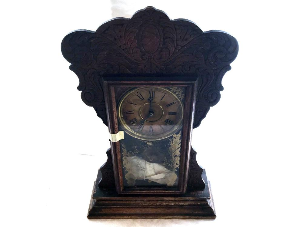 Gilbert Company Gingerbread Mantle Clock