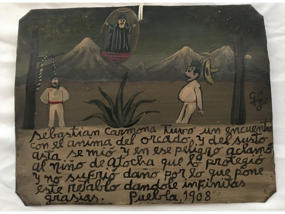 Mexican Folk Art Retablo Sebastian Carmona
