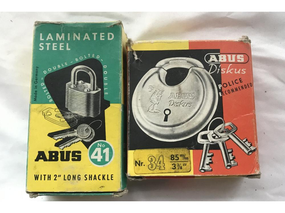 Pair Of Abus Vintage Locks In Original Boxes