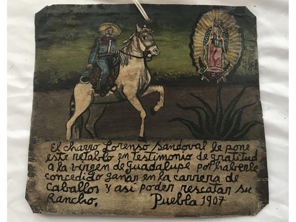 Mexican Folk Art Retablo Charro Lorenzo