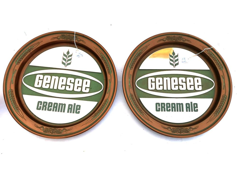 4 Vintage Genesee Beer Signs