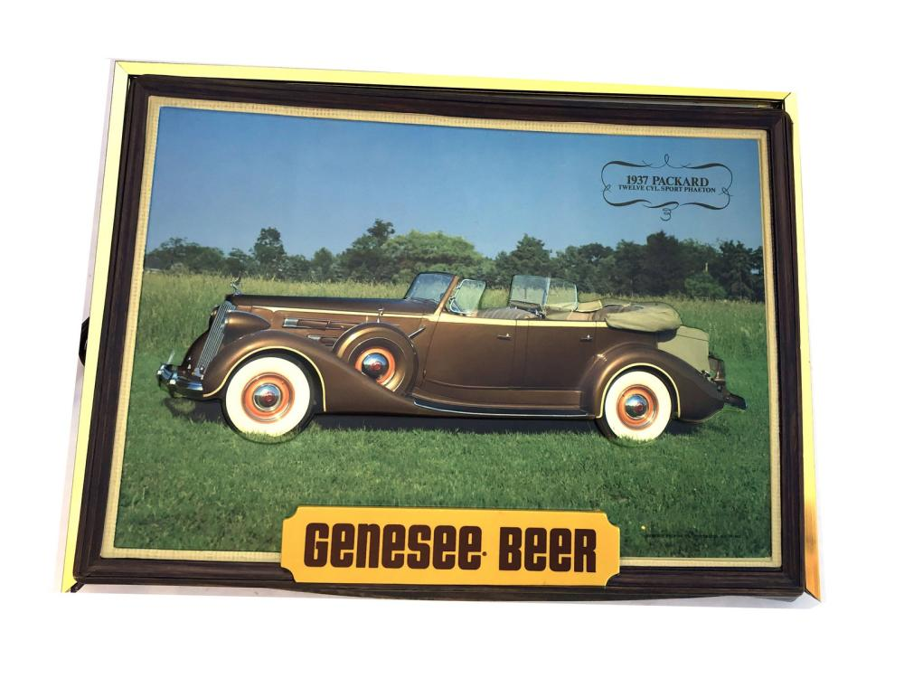 Vintage Genesse Shadow Box Packard Sign