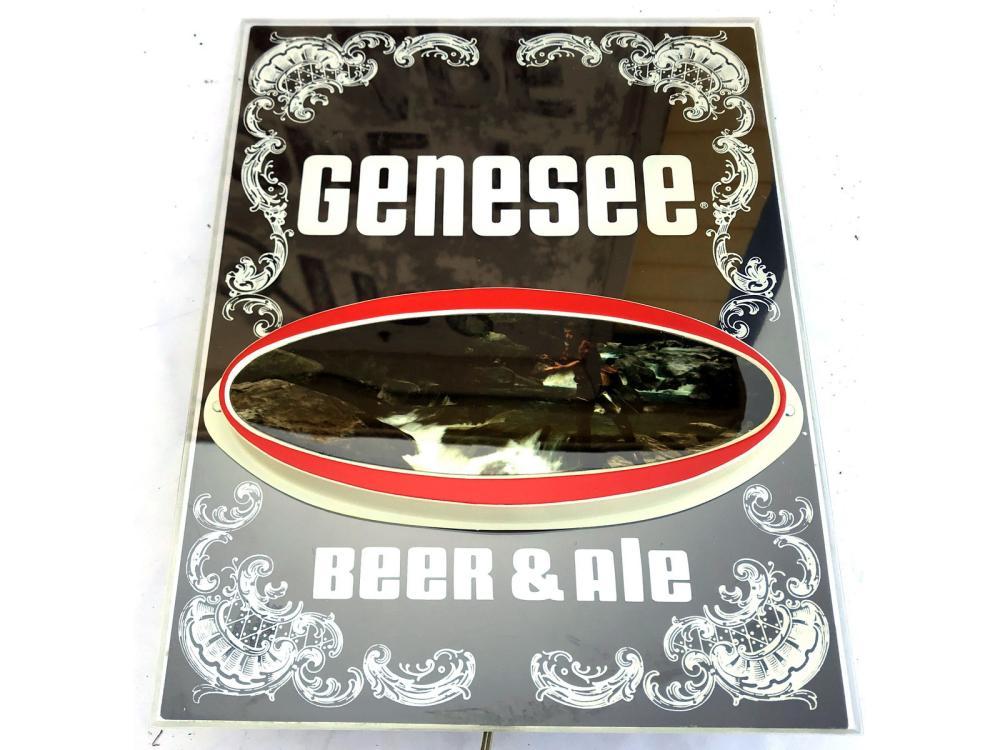 5 Genesee Light Up Beer Signs Nib