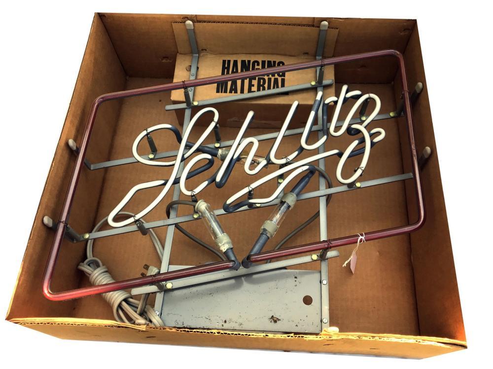 Vintage Schlitz Neon Sign New In Box