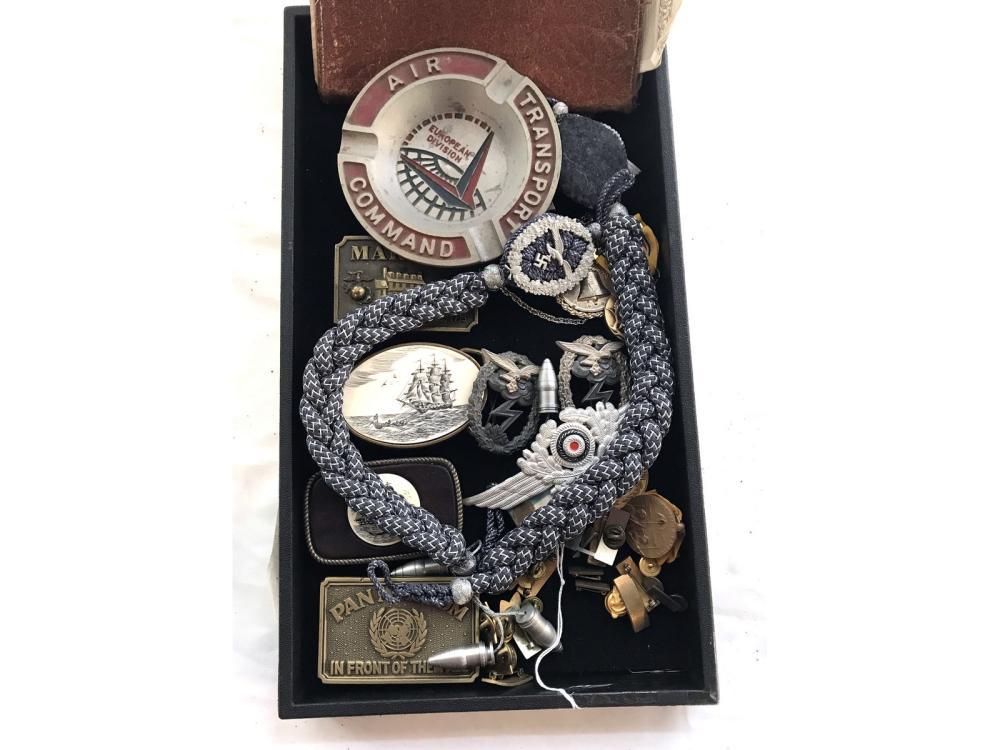 Vintage Estate Medals, Belt Buckles Military Items