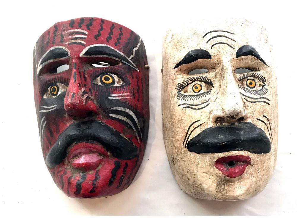 5 Hand Painted Masks