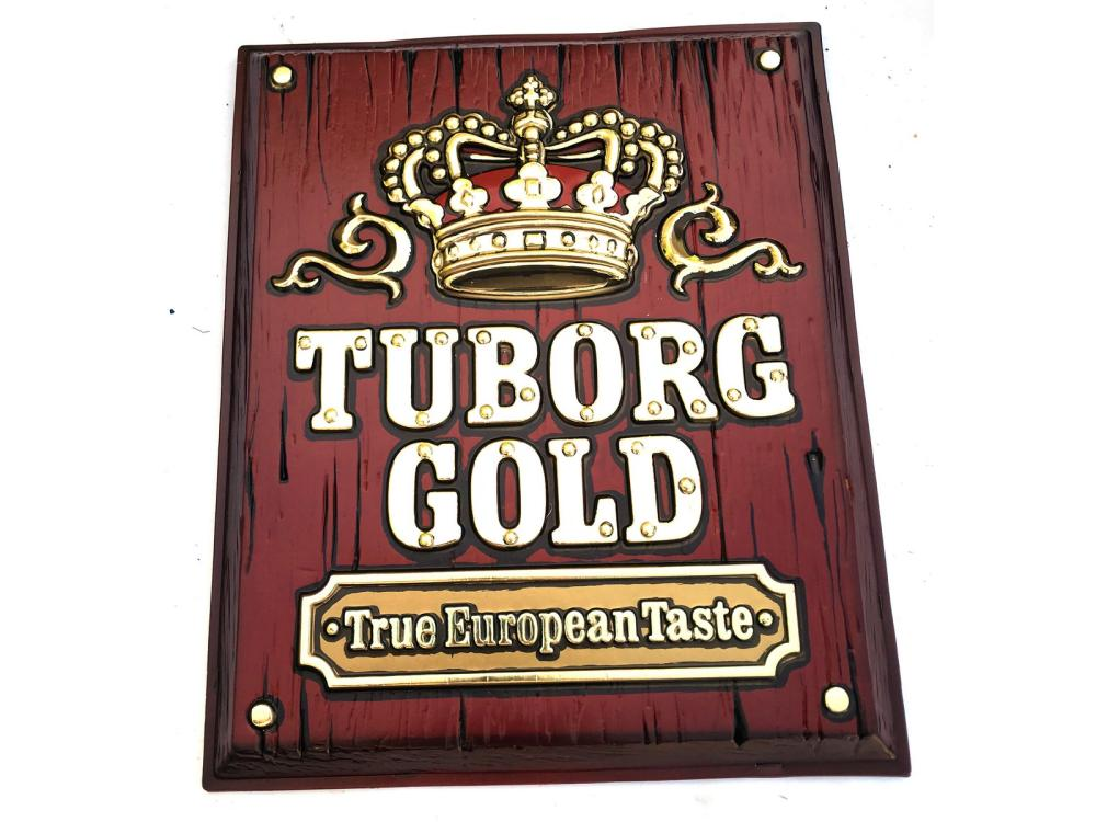 5 Turborg Gold Beer Signs New Old Stock