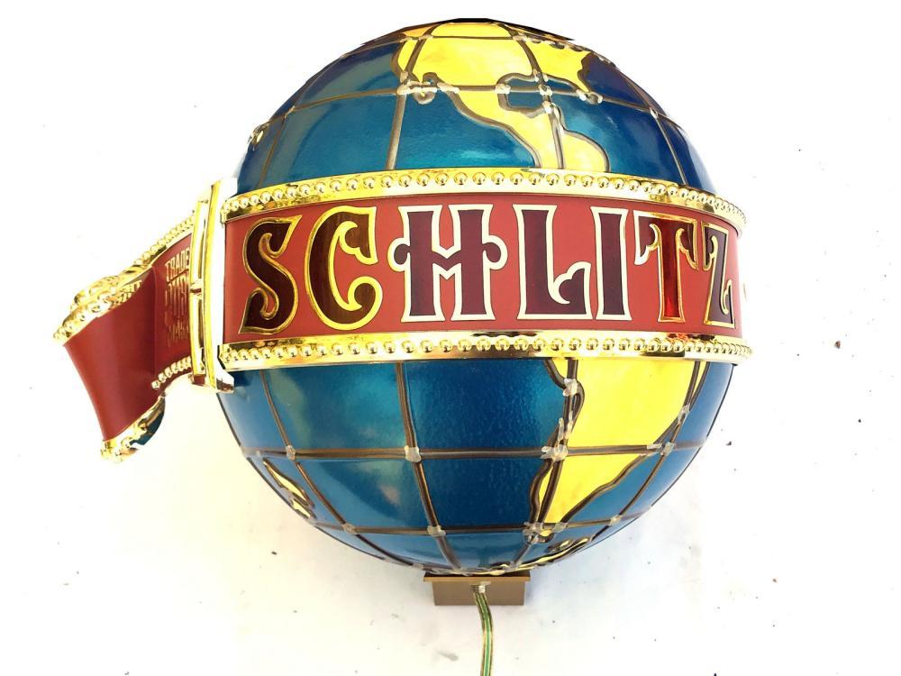 Vintage Schlitz Grand Baroque Refrigerator Globe