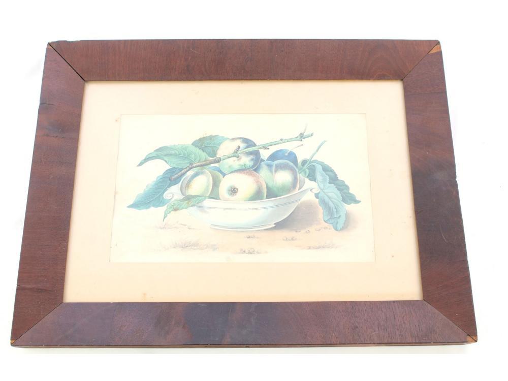 Watercolor Of Fruit In Og Frame