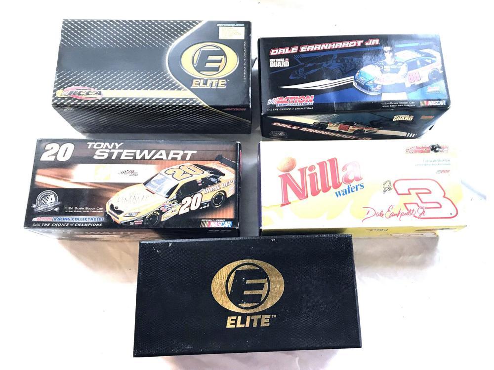 5 Diecast Nascar Cars Original Boxes