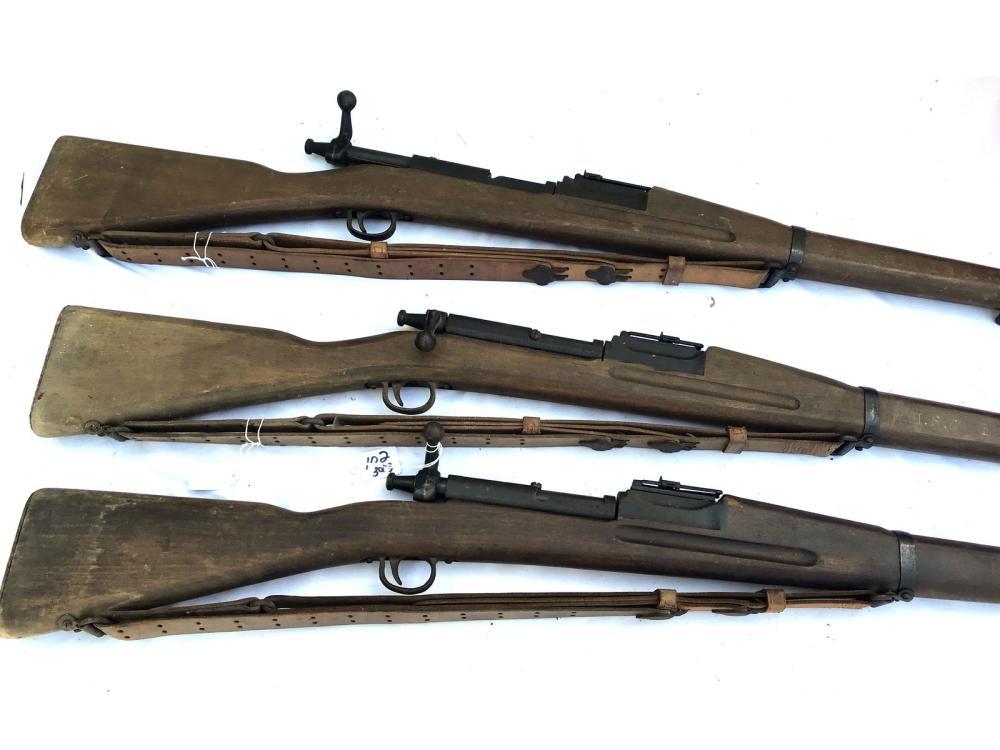 Three Portland High School Cadet Rifles