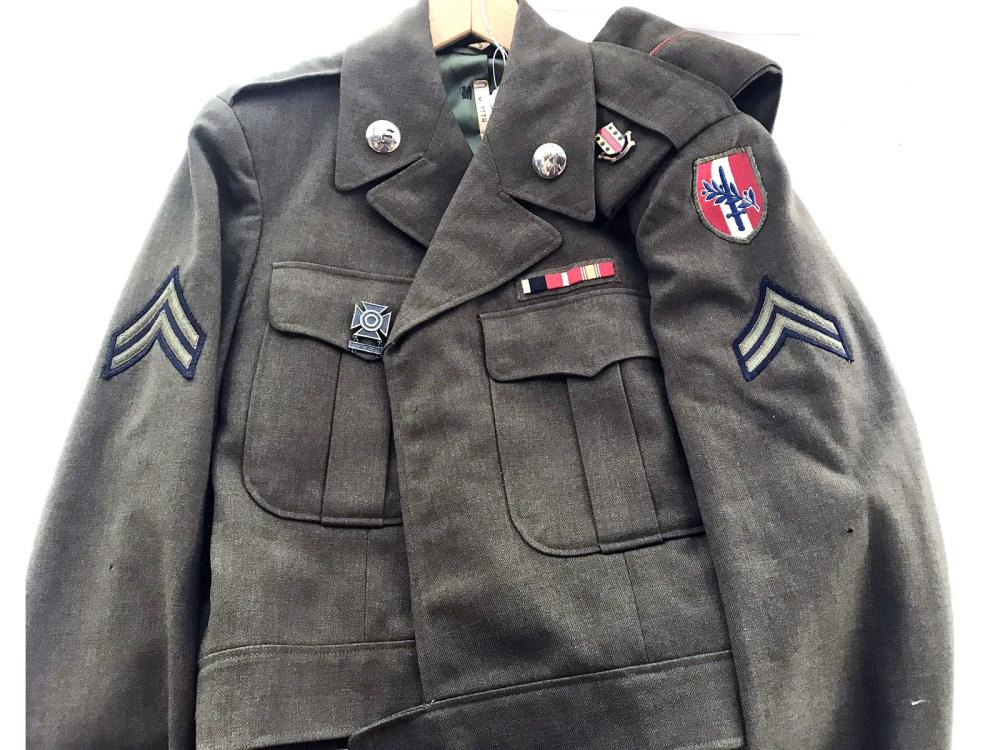 Wwii Ike Jacket With Corporal Stripes