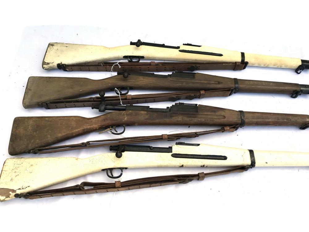Four Portland High School Cadet Rifles