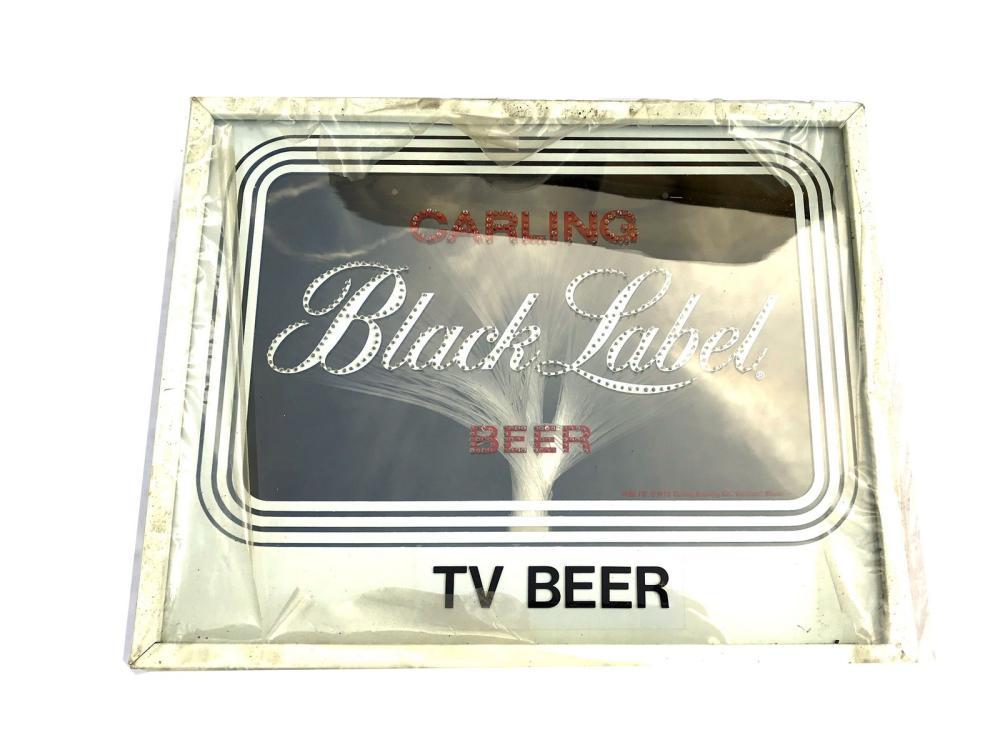 Black Label Tv Beer Sign