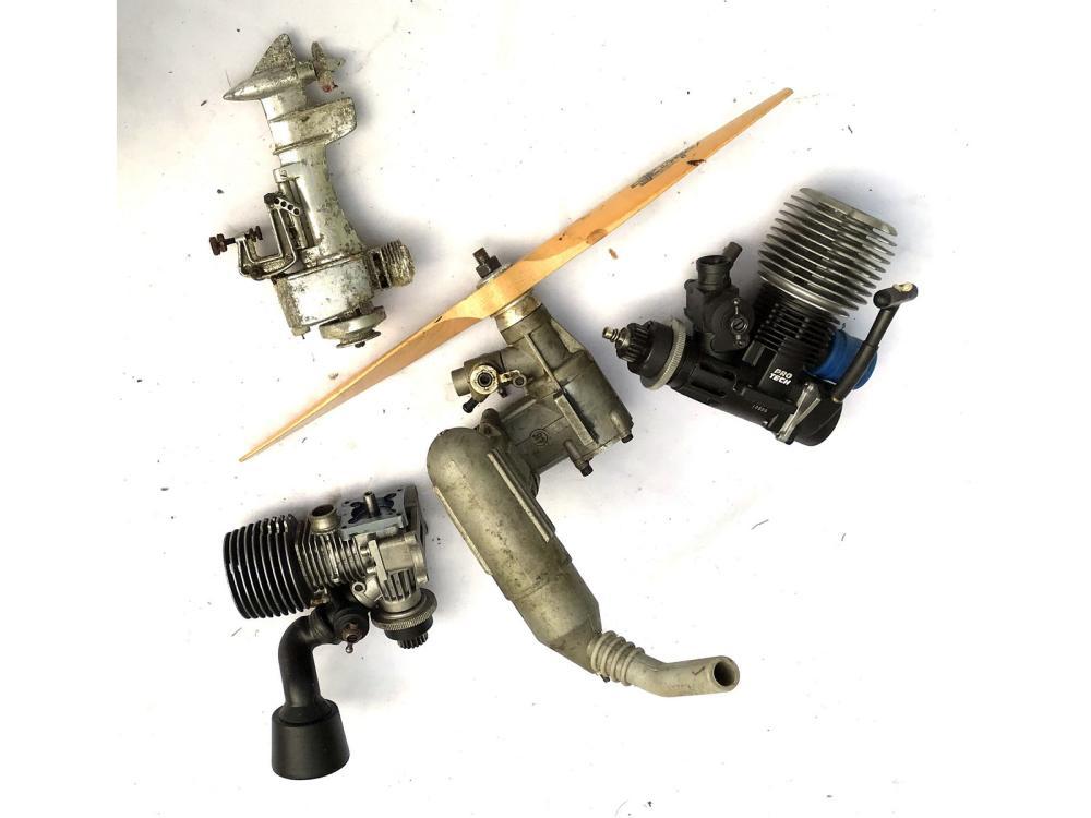 Vintage Model Boat Motors And Airplane Motor
