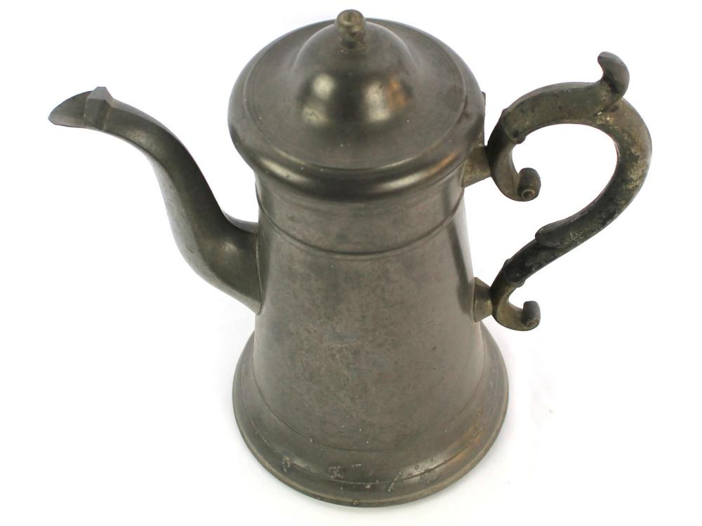 Antique Porter Westbrook Pewter Coffee Pot