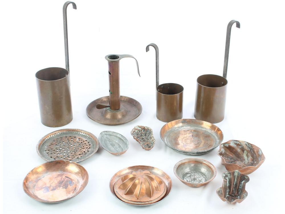 Antique Copper Molds, Candle Sticks