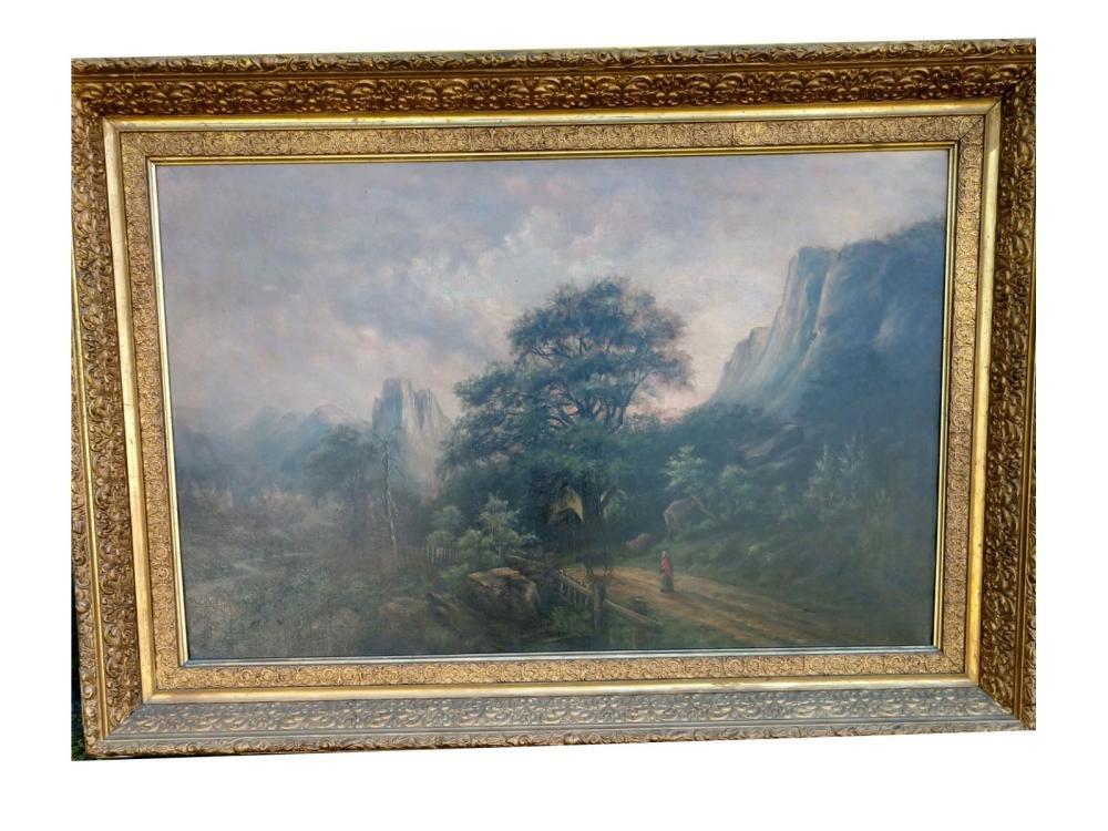 Oil On Canvas Deep Gold Frame